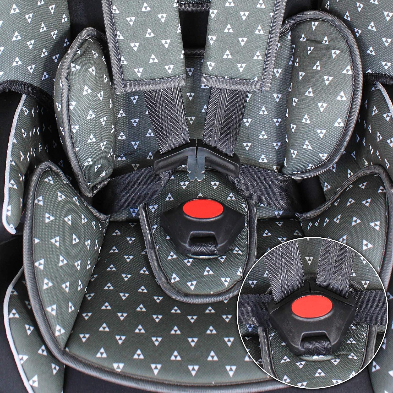XOMAX XL-518 Kindersitz mit ISOFIX I mitwachsend I 9-36 kg 1-12 Jahre Gruppe 1//2//3 I 5-Punkt-Gurt und 3-Punkt-Gurt I Bezug abnehmbar und waschbar I ECE R44//04 I blau//schwarz
