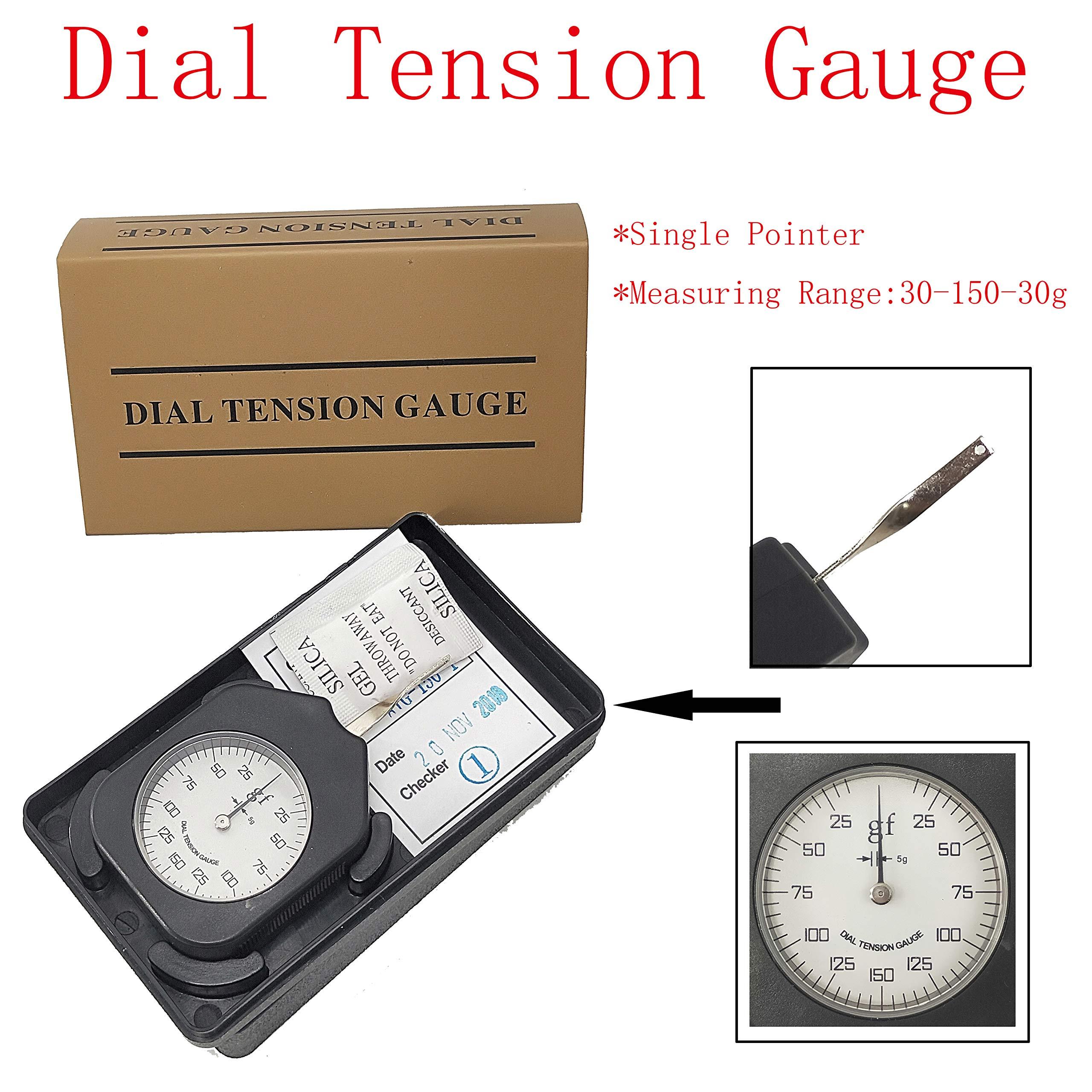 YFYIQI Dial Tensionmeter Tension Gauge Tension Gauge Single Pointer Gram Force Meter with Max Tension Measuring Value 150g by YFYIQI