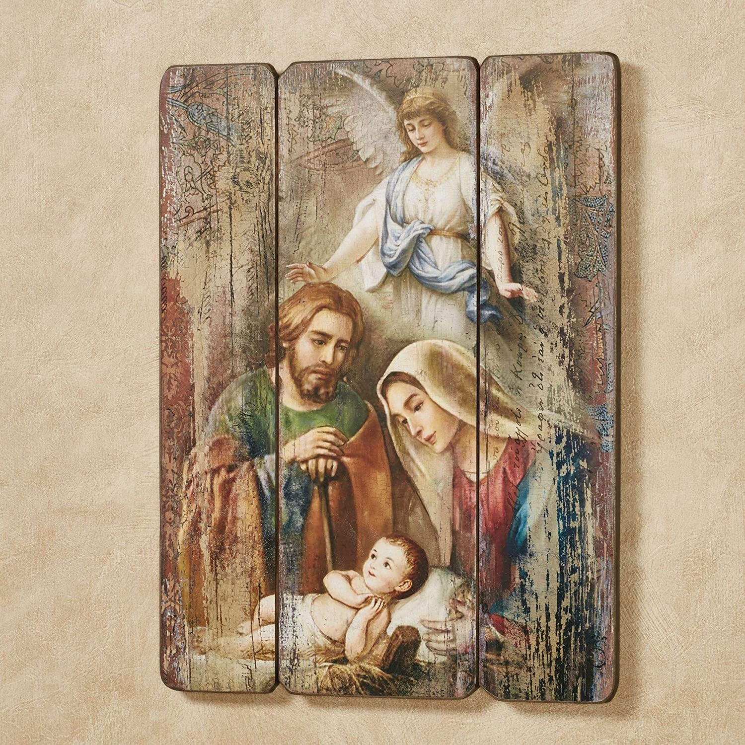 Roman 75309 Figurine - Holy Family with Angel Wall - 17 in.