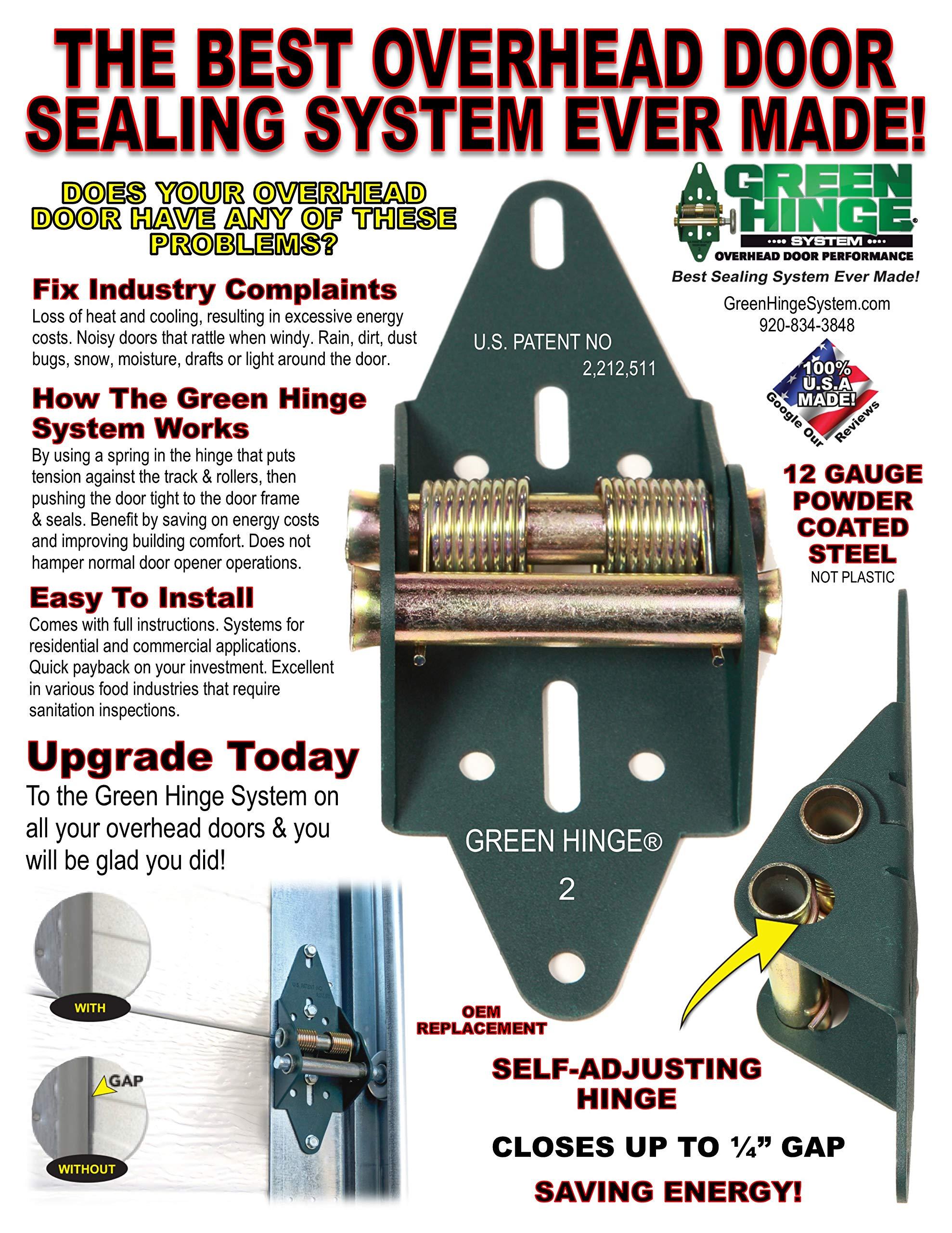 Energy Saving Garage Door Hinge, Residential Set, 4 Panel Door by Green Hinge (Image #1)