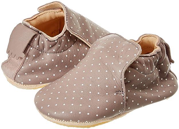 Blublu Plumetis, Zapatillas de Estar por Casa Unisex Bebé, Marrón (Ecorce/Blanc 358), 18/19 EU Easy Peasy