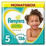 Pampers Premium Protection Windeln, Gr. 5 Junior (11-23 kg), Monatsbox, 1er Pack (1 x 136 Stück)