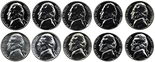 2017 P D and S BU AND Proof Jefferson Nickel set-PD Uncirculated from rolls