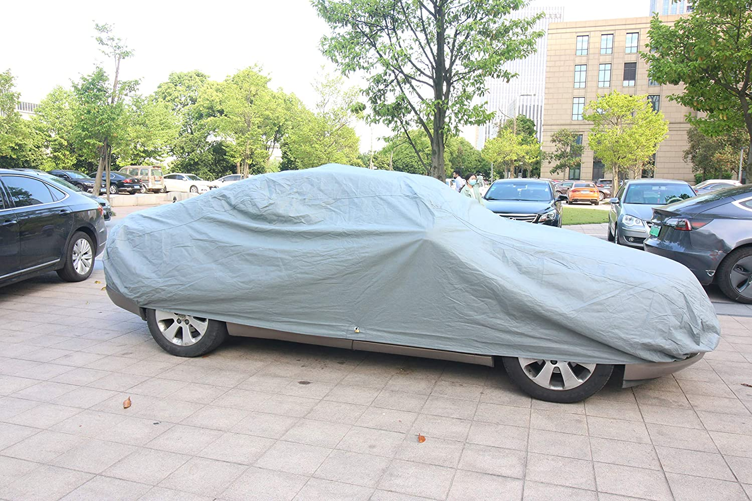 M Size up to 160 Copap Car Covers PVC and Non-Woven Fabric Sedan Cover Dust Prevention UV Proof Indoor Outdoor All Weather Waterproof