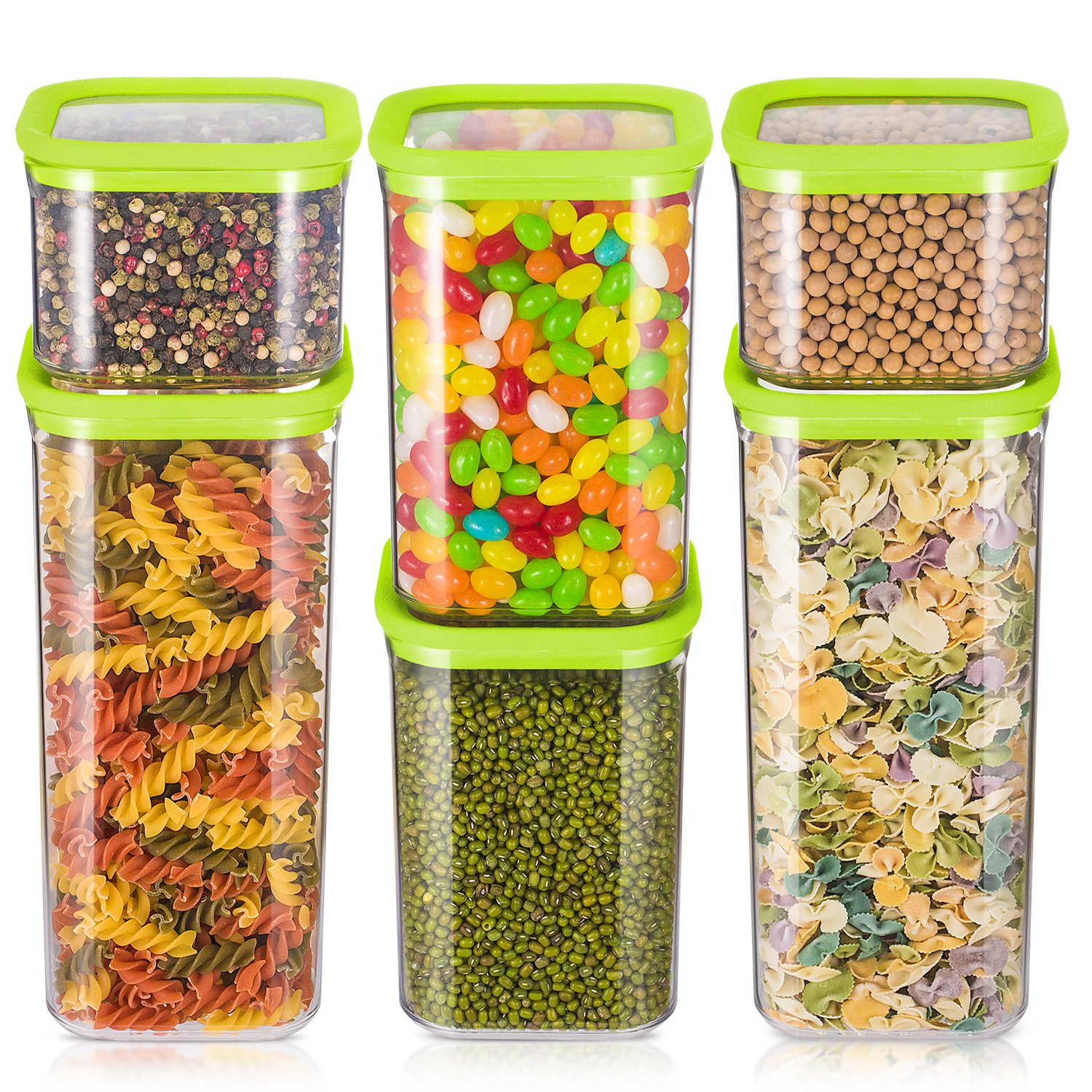 Amazon.com: ME.FAN Air-tight Food Storage Containers Set - 6 ...