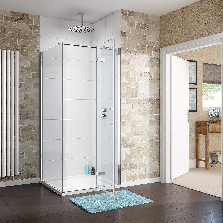 1200 x 900 mm con bisagras con cabina de ducha de vidrio limpio ...