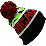 American Cities USA Sports City State Cuff Cable Knit Pom Pom Beanie Hat Cap - Camo