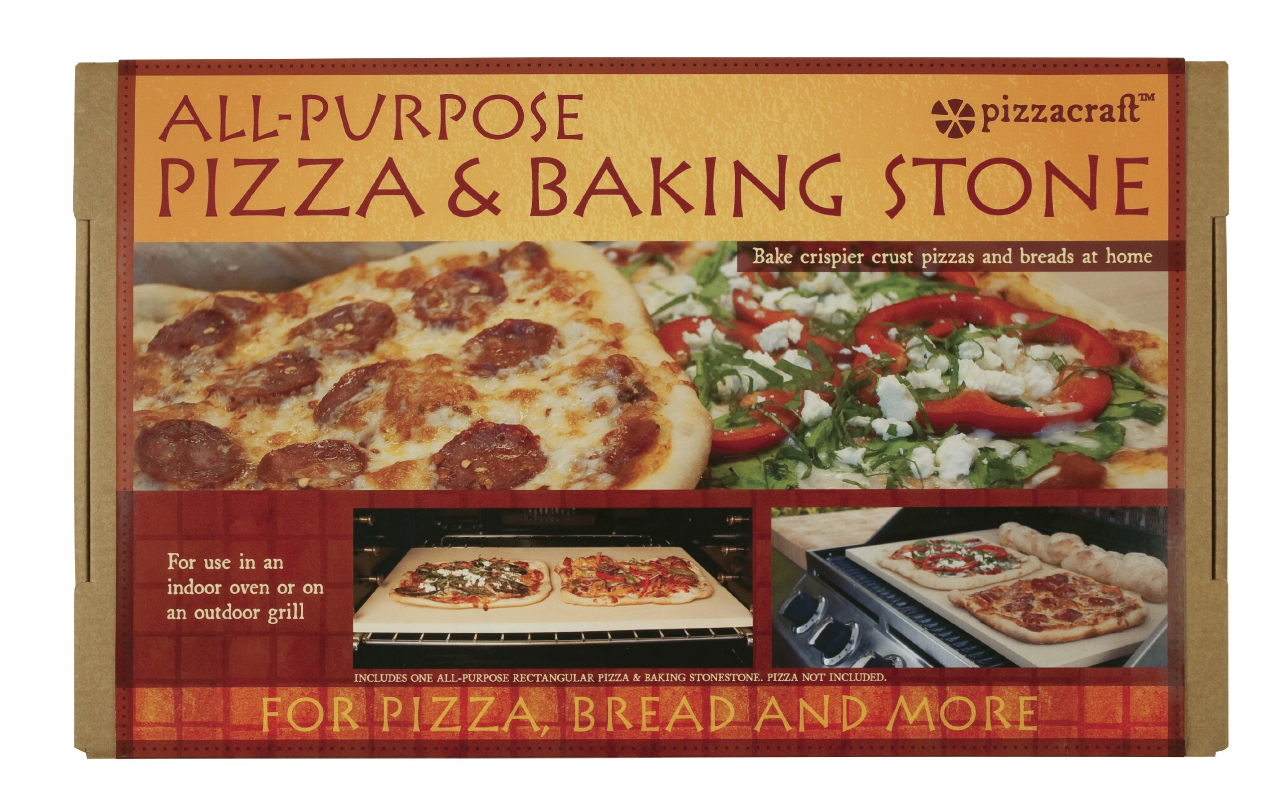 Pizzacraft PC9899 20 x 13.5 Rectangular ThermaBond Baking/Pizza Stone for Oven or Grill by Pizzacraft (Image #3)