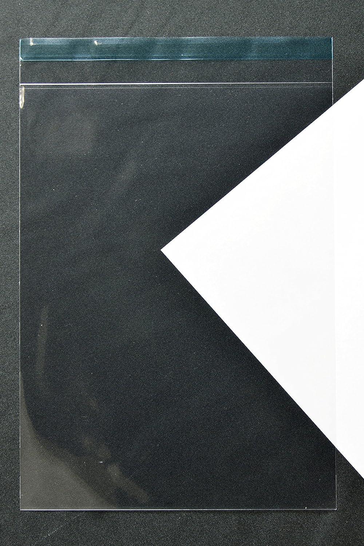 透明封筒 角2 【4,000枚】 OPP 40μ(0.04mm) 静電気防止処理テープ付き 折線付 横240×縦332+フタ36mm UV印刷可 B007B5EYPE 透明-4000枚 透明-4000枚