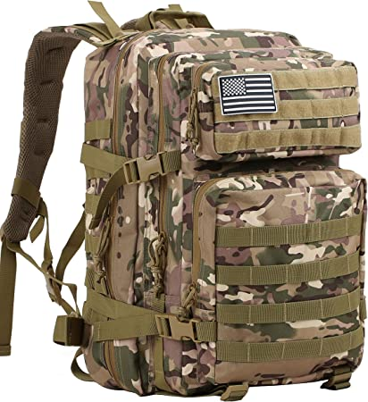 Army Tactical Security Shoulder Bag MOLLE Travel Hiking Camping Olive Drab Green