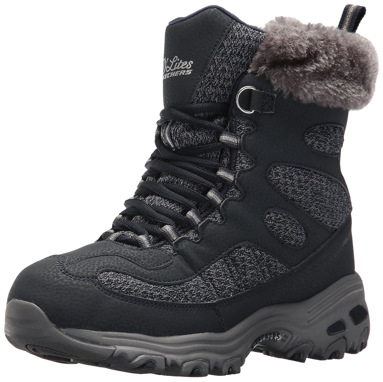 Skechers Women's D'Lites Winter Boot B01MYEPE1L 5.5 B(M) US|Navy