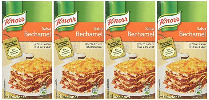 Knorr - Salsa Envase Bechamel Ambiente 500 ml - [Pack de 4]: Amazon.es: Alimentación y bebidas