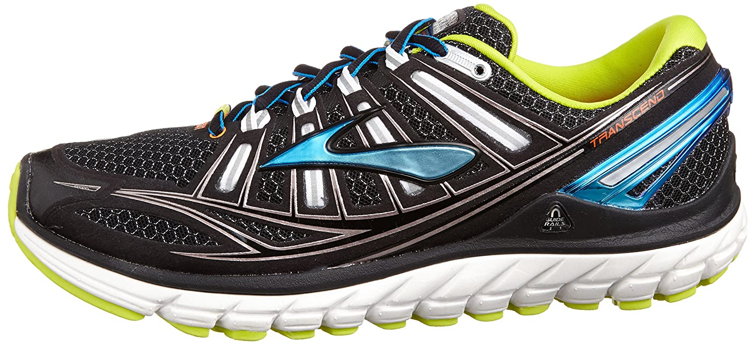 Brooks Trascendent - Zapatillas de running para hombre, color black/bachelorbutton/lime, talla 42: Amazon.es: Zapatos y complementos