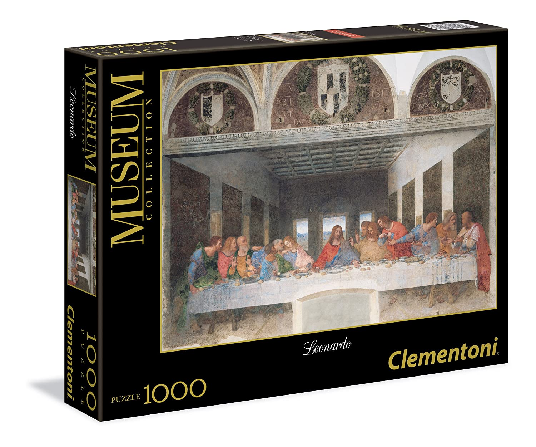 Clementoni - Puzzle de 1000 piezas Grandes Museos, diseño Leonardo: La Última Cena (314478) 31447.8