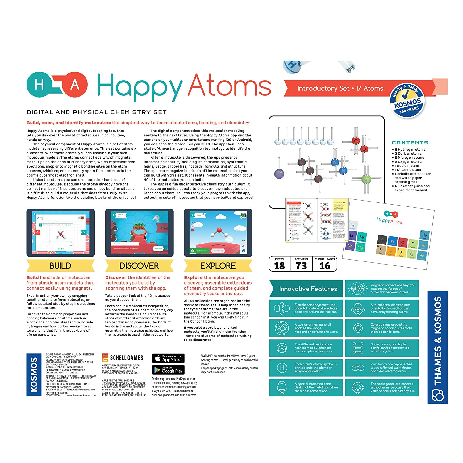 iOS and Android Compatible Happy Atoms Introductory Set