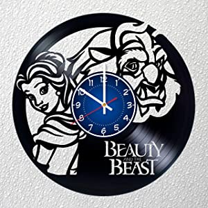 BEAUTY AND THE BEAST 12 inches / 30 cm Vinyl Record Wall Clock | DISNEY Gift | Girls Room Decor | Princess Belle