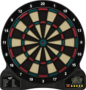 Fat Cat 727 Electronic Dartboard, Easy To Use Button Interface, Automatic Voice Feedback, Included Darts And Built In Storage, Mulitplayer For Up To 8 Players, 43 Games 201 Options