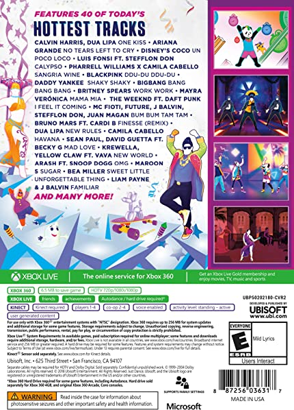 Amazon com: Just Dance 2019 - Xbox 360 Standard Edition: Ubisoft