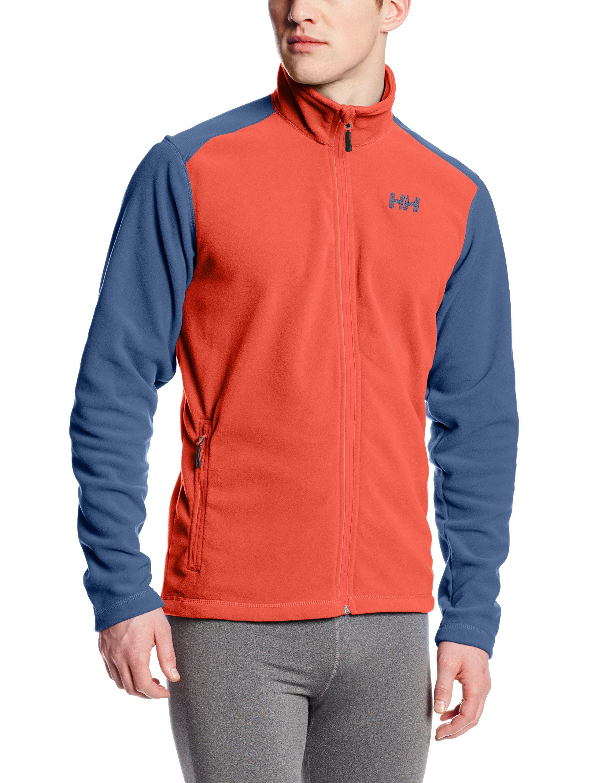Helly Hansen Men's Daybreaker Lightweight Full Zip Fleece Jacket, 118 Paprika, Large