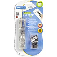 Rapesco RC4025SS Supaclip 40 See Through Dispenser with 25 Stainless Steel Refill Clips - Transparent