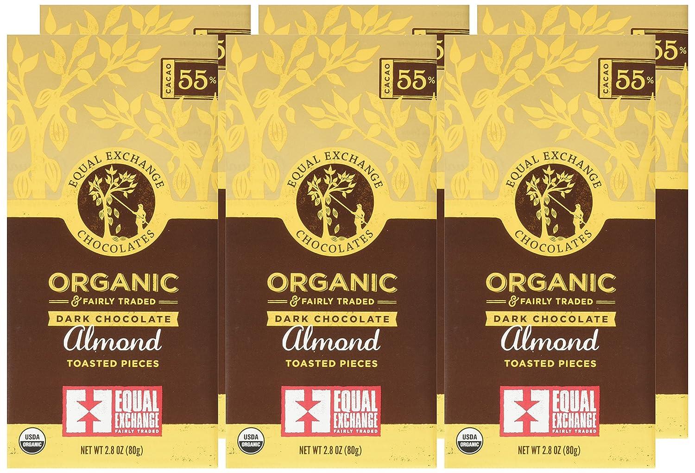 Amazon.com : Equal Exchange Organic Dark Choc with Almonds, 2.8 ...
