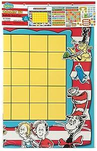 Eureka Classroom Supplies Back to School Dr. Seuss Teacher Calendar Bulletin Board Set, 122 pcs