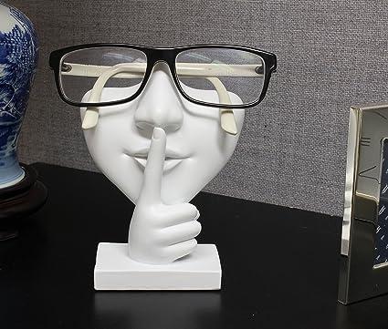b33d6dac18d Amazon.com  JewelryNanny Artsy Face Eyeglass Holder Stand - Sculpted ...
