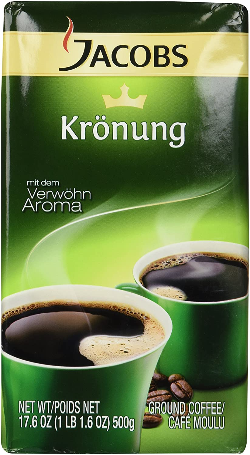 Jacobs Kronung Ground Filter Coffee 500 Gram / 17.6 Ounce ( 2 Pack )