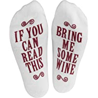 """Haute Soiree - Women's Novelty Socks - """"If You Can Read This, Bring Me Some"""" (Wine, Chocolate, Coffee) Novelty Socks"""