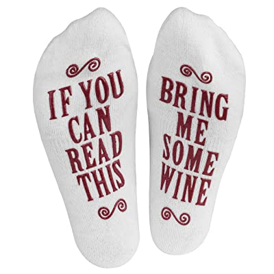 A pair of socks with a funny secret message