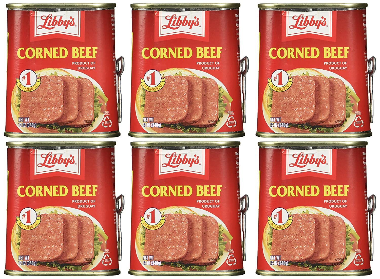 Libby's Corned Beef 12oz Can (Pack of 6)