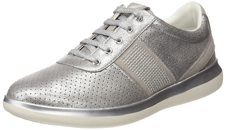 Geox D Gomesia B, Zapatillas para Mujer 35 EU|Gris (Lt Grey)