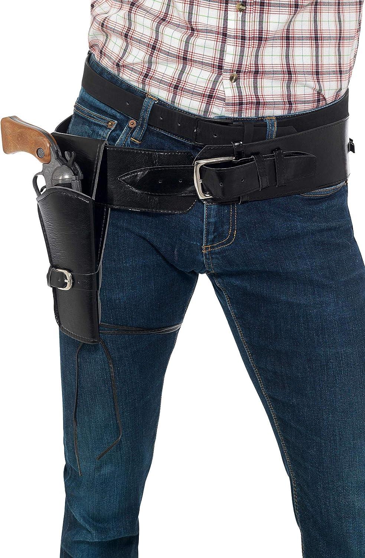 Gunman Belt and Holster Mens Fancy Dress Cowboy Wild West Adults Costume Set New