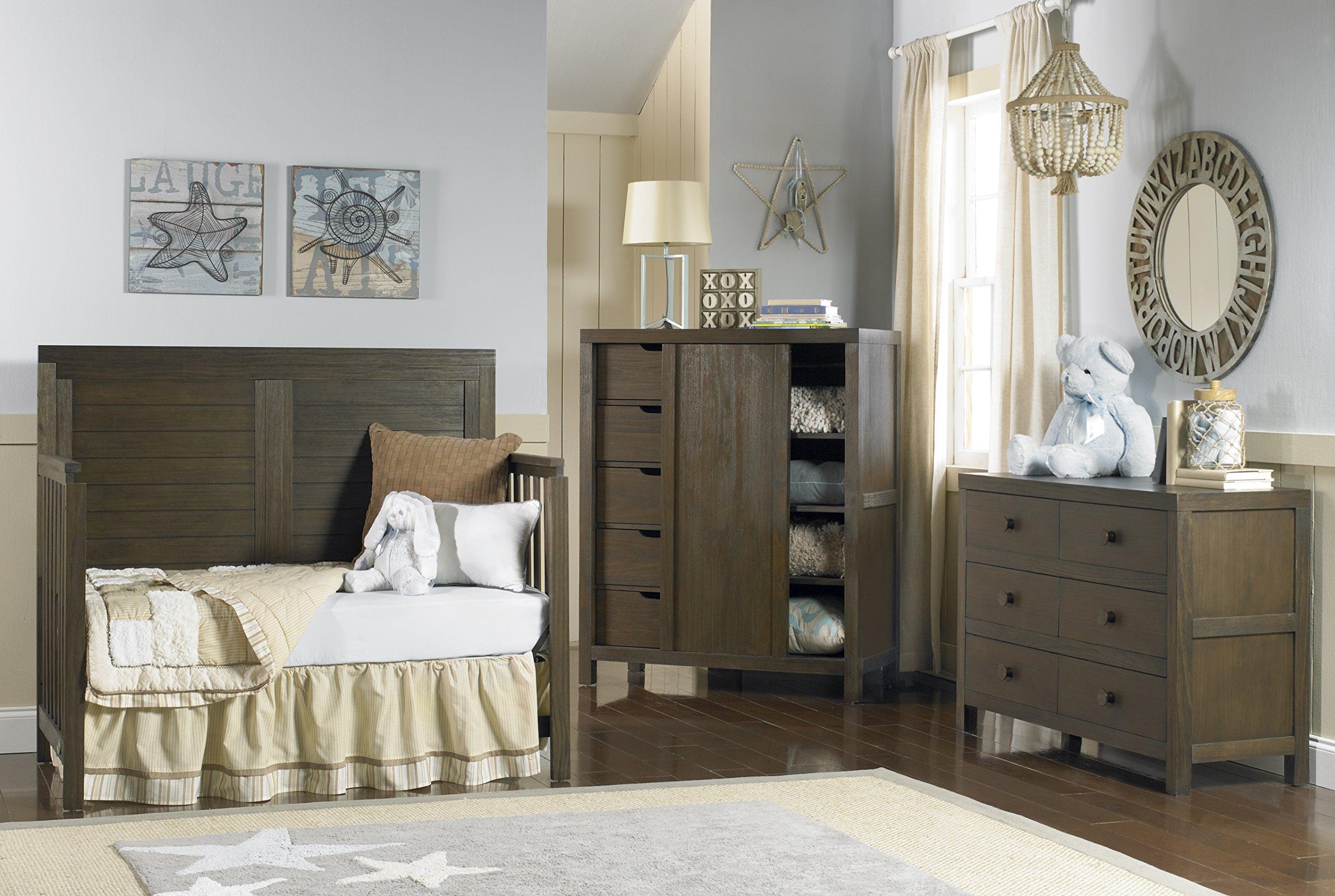 Ti Amo Castello 4 in 1 Convertible Crib, Wire Brushed Brown by Tiamo (Image #4)