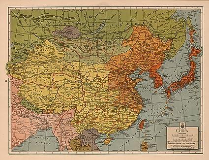 China Map Poster.Amazon Com Map Poster China 24 X18 5 Posters Prints