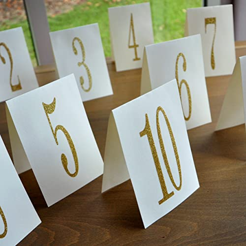 amazon com table number tents gold table numbers 1 10 table