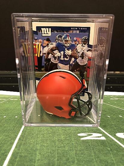 Amazon Com Cleveland Browns Nfl Helmet Shadowbox W Odell
