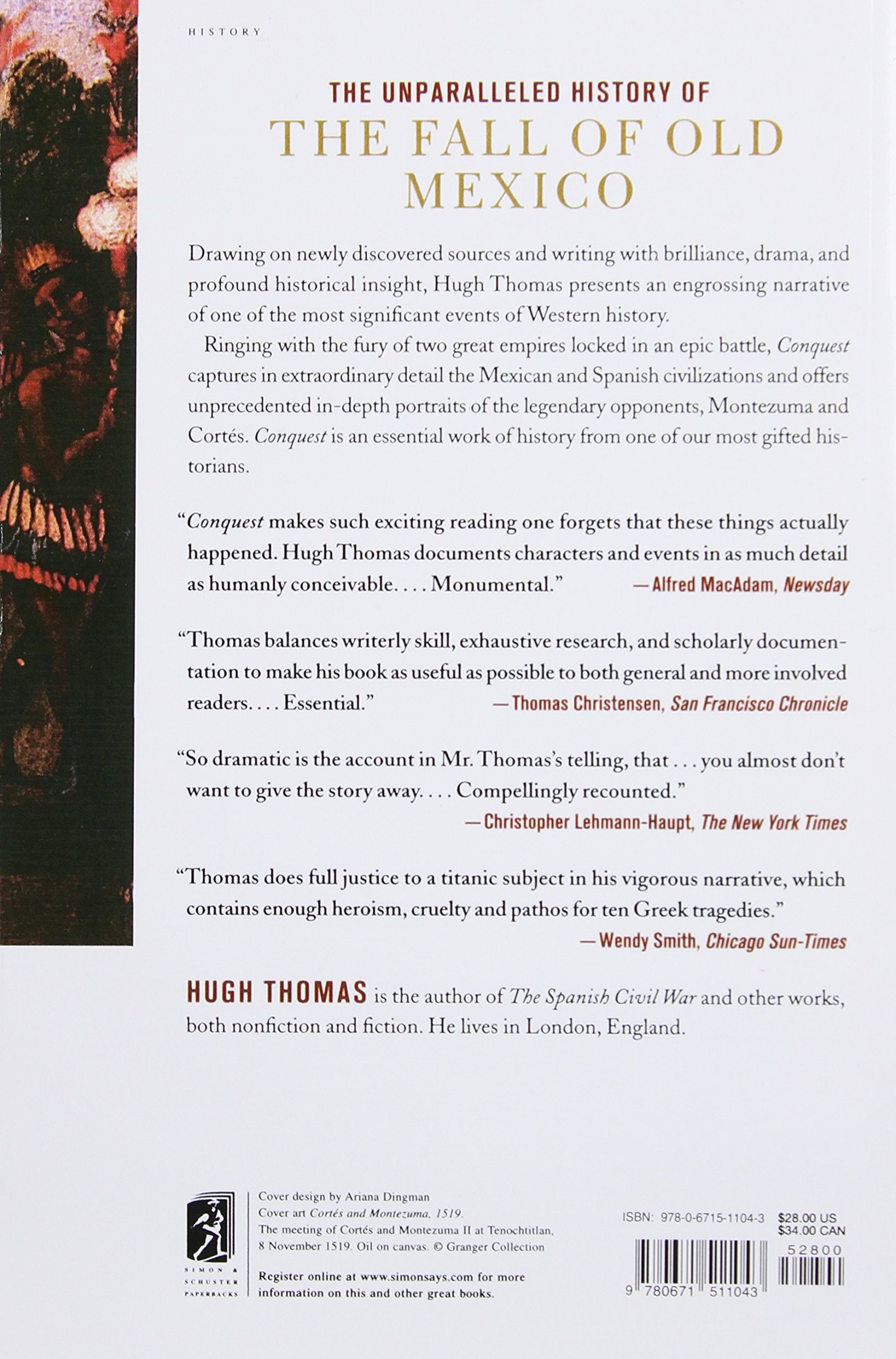 Background information on mexico - Conquest Cortes Montezuma And The Fall Of Old Mexico Hugh Thomas 9780671511043 Amazon Com Books