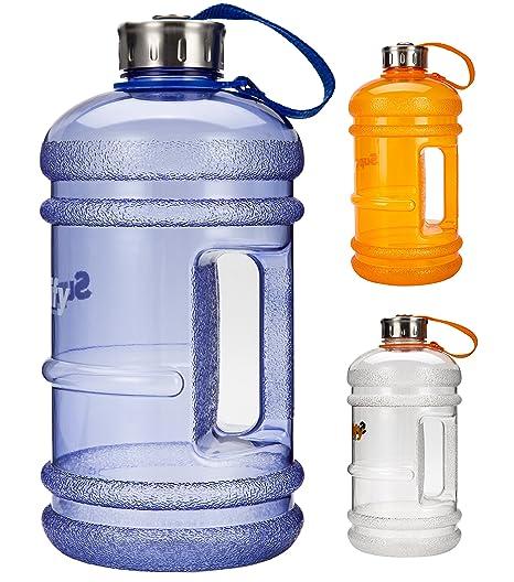 Supplify - Botella de plástico sin BPA ni DEHP, 2,2 L
