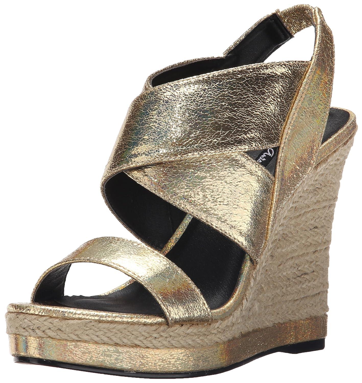Michael Antonio Women's Gerey-Met Espadrille Wedge Sandal B017V6KJ2O 7.5 B(M) US|Gold