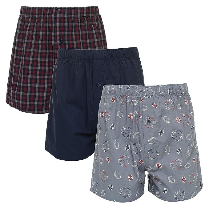 24fb4c833c46 IZOD Mens 3 Pack Woven Boxer at Amazon Men's Clothing store: