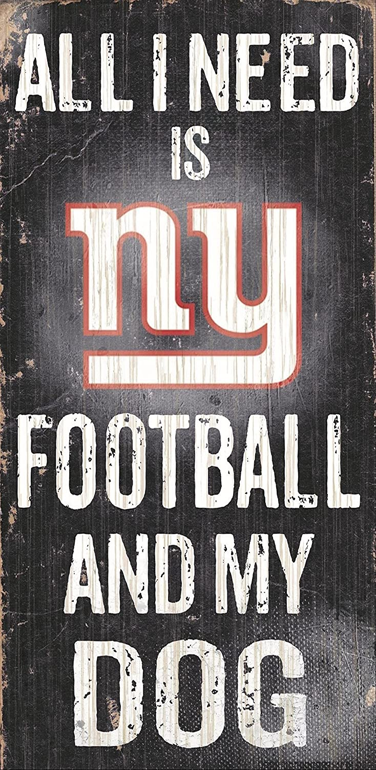 Fan Creations Sign New York Giants Football and My Dog, Multicolored