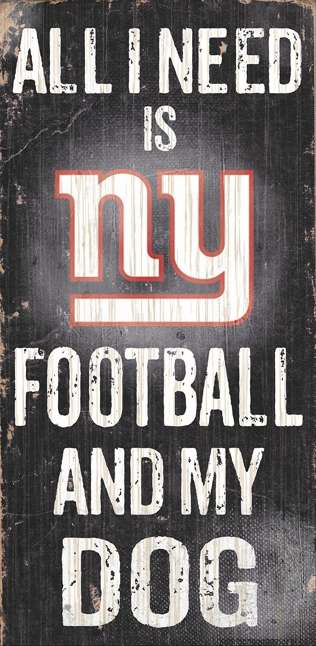 Fan Creations Sign New York Giants Football and My Dog, Multicolored by Fan Creations