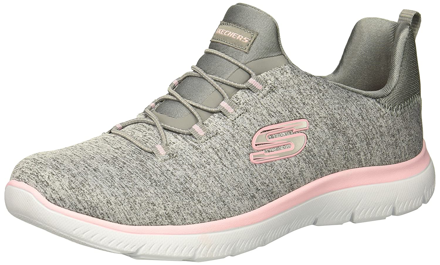 Skechers Women's Summits Sneaker B07795ZQ1J 6.5 B(M) US|Grey Light Pink