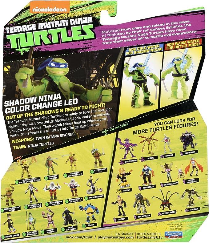 Amazon Com Teenage Mutant Ninja Turtles Ninja Color Change Leonardo Action Figure Toys Games
