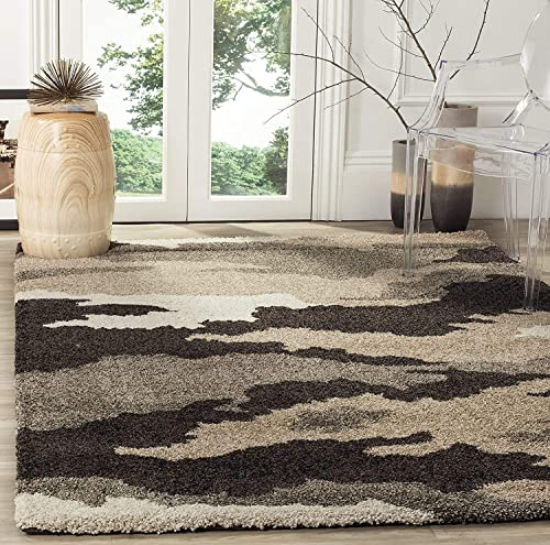 Safavieh Florida Shag Collection SG453-1403 Camouflage Textured 1.18-inch Thick Area Rug