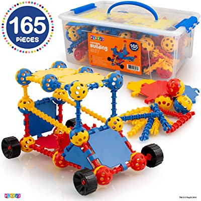 Play22 Building Toys For Kids 165 Set - STEM Educational Construction Toys - Building Blocks For Kids 3+ Best Toy Blocks Gift For Boys and Girls - Great Educational Toys Building Sets - Original: Toys & Games