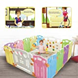 Amazon Price History for:Baby Playpen Kids Activity Centre Safety Play Yard Home Indoor Outdoor New Pen (multicolour, Classic set 14 panel)