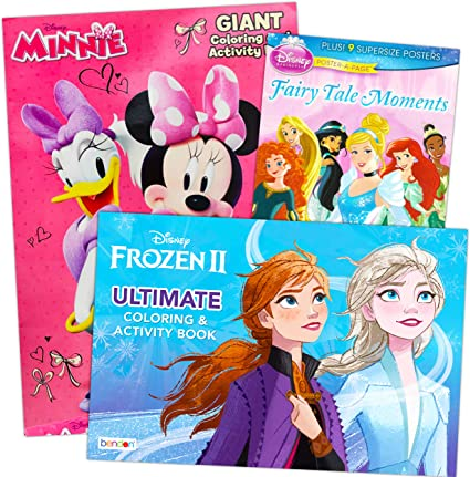 Amazon Com Disney Giant Floor Coloring Pad Set For Kids Bundle Includes 3 Giant Floor Coloring Books Featuring Disney Frozen Minnie Mouse And Disney Princesses Arts Crafts Sewing