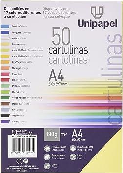 5 Star 134534 - Pack de 50 hojas cartulinas A4, color amarillo: Amazon.es: Oficina y papelería